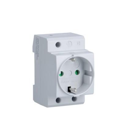 Toma de corriente Schuko 10/16A, 2P+T, 230V
