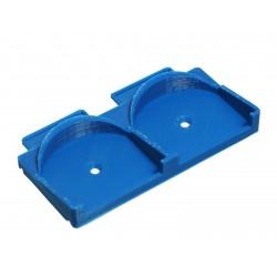 Placa de montagem em trilho DIN para 2x Fibaro Micromodules