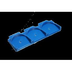 Placa de montaje en Carril DIN para 3x Micromódulos Fibaro