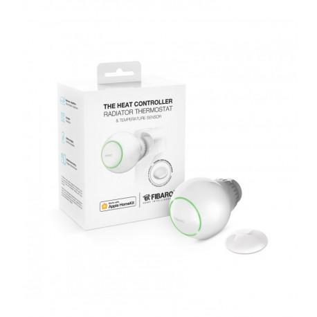 FIBARO Starter Pack Calefación (Cabezal Termostatico + Sensor Temperatura)