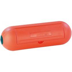 Caixa de proteção para plugues e conexões em jardim IP44 laranja
