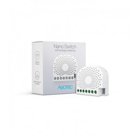 Aeotec Nano Switch Z-Wave Plus con medición de consumo