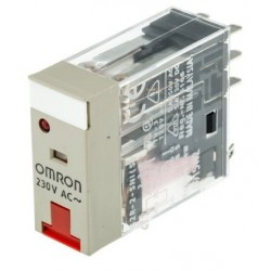 Omron G2R-2-SNI 230AC (S) Relay without interlock, DPDT, Plug-in, 230V ac