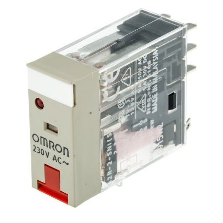 Omron G2R-2-SNI 230AC(S) Relé sin enclavamiento, DPDT, Enchufable, 230V ac