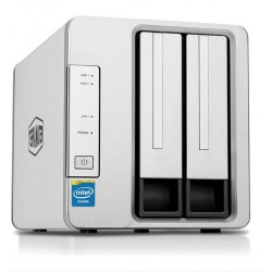 TerraMaster F2-220 2-bay NAS with Intel Dual-core 2.4 GHz processor (without Discs)