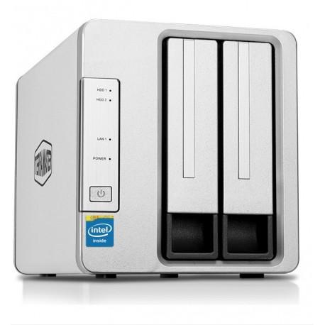 TerraMaster F2-220 NAS de 2 bahías con procesador Intel de Dos núcleos 2,4 GHz (sin Discos)