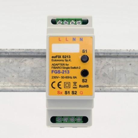 Eutonomy - Adaptador carril DIN euFIX S213NP