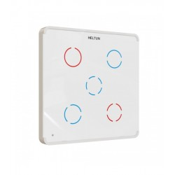 HELTUN - Interruptor táctil Z-Wave+ 5 chanales (color Blanco)