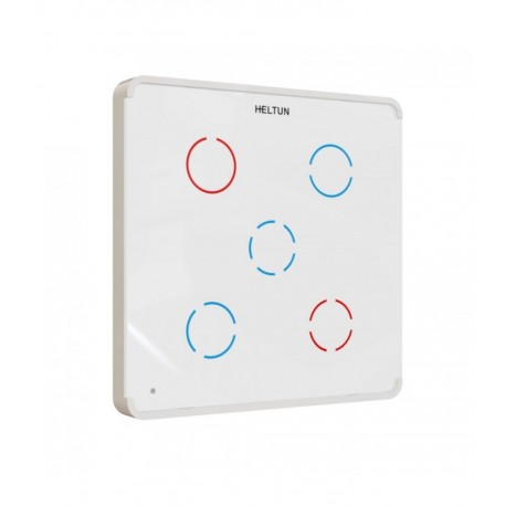HELTUN - Z-Wave+ Switcher 5 channels (white glass and frame)