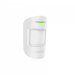 AJAX MotionProtect - Detector de movimiento PIR doble tecnología , inalámbrico, anti-mascotas hasta 12mts, Grado 2