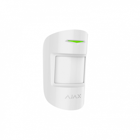 AJAX MotionProtect - Detector de movimiento PIR doble tecnología , inalámbrico, anti-mascotas hasta 12mts, Grado 2