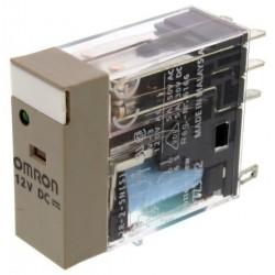 Omron G2R-2-SNI 12DC(S) Relé sin enclavamiento, DPDT, Enchufable, 12V dc