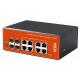 Wi-Tek WI-PMS312GF-I Switch PoE Industrial 8 Gigabit + 4 SFP gestionable