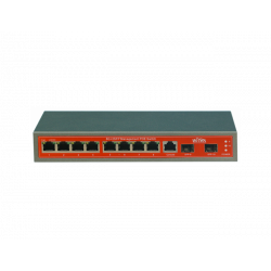 WI-TEK WI-PMS310GF SWITCH POE 8 GIGABIT + 2 SFP GESTIONABLE