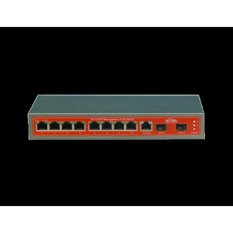 Wi-Tek WI-PMS310GF switch PoE 8 GIGABIT + 2 SFP GESTIONABLE