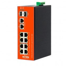 Wi-Tek WI-PS310GF-I Industrial PoE Switch 8 GIGABIT + 2 COMBO GIGA / SFP