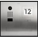 DoorBird D2101FPBI Intercomunicador de vídeo IP embutido com caixa de correio integrada