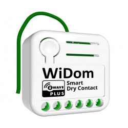 wiDom Smart Dry Contact Switch - micromódulo relé Z-Wave+ de contacto seco