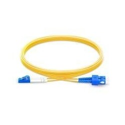 Patch Cord Fiber Optic LC to SC single mode DUPLEX 3.0 mm LSZH 2 Mts