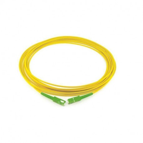 Latiguillo patcheo Fibra Optica SC/APC a SC/APC monomodo SIMPLEX 3.0 mm LSZH 5 Mts