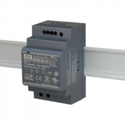 Power supply DIN rail 24V DC 2.5A 60W