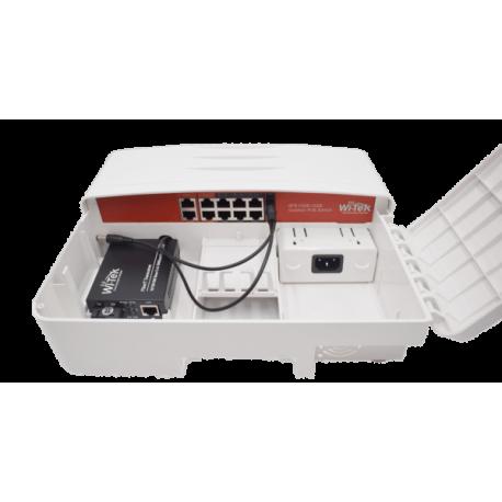 Wi-Tek WI-PS210G-O Switch PoE para exterior de 8+2 puertos