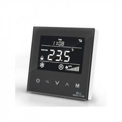 MCO HOME - termostato PRETO Z-Wave+ para serpentinas de 4 tubos