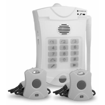Marcador telefónico con botón de pánico.