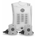 Telephone dialer with panic button (telecare)
