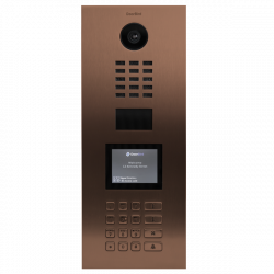 DoorBird D21DKV Videoportero IP empotrable multipropietarios acabado color Bronce