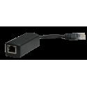 Wi-Tek WI-POE11S48V Splitter PoE 48V 802.3af (15W) + Jack Alimentación 5.5x2.1 mm 12 V 1A