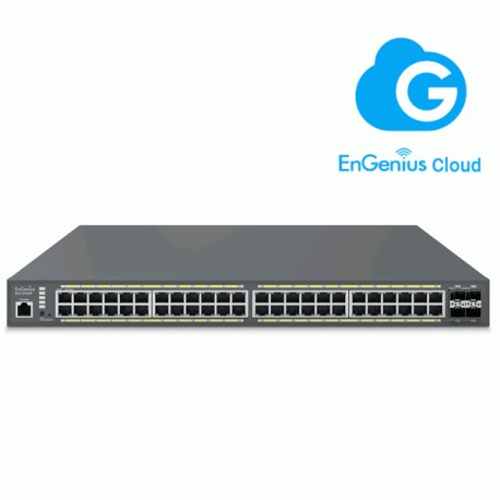 EnGenius ECS1552FP Switch PoE 48 Puertos y 740 W con Gestión Cloud