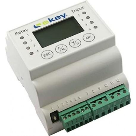 ekey home CP DRM 1 unidad Panel de Control para montaje en carril DIN 1 relé