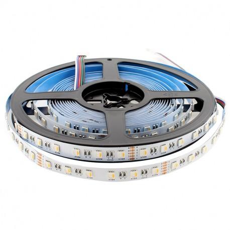 Tira LED EPISTAR SMD5050, RGB+W, DC24V, 5m