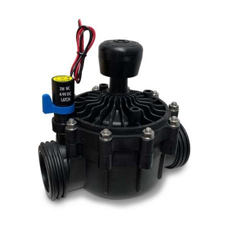 Galarza - Electroválvula LATCH 9V DC 2'' de 2 vías con control de caudal