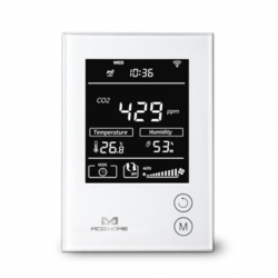 MCOHome sensor de umidade, temperatura e de CO2 com Z-Wave+ com display