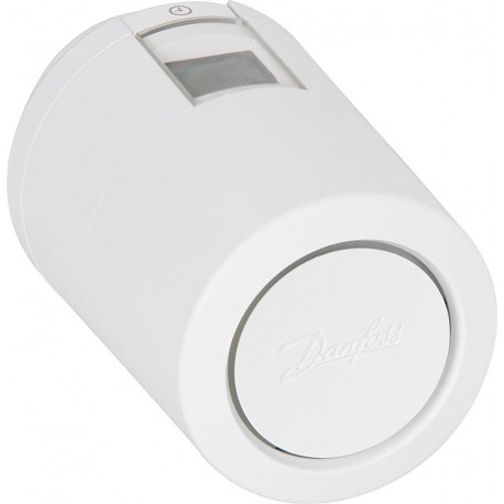 Danfoss LC-13 Z-Wave thermostatic head for radiator adaptable to RA and M30 valves.