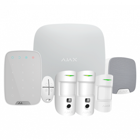 Kit Alarma AJAX HUB2 AJ-HUB2KIT-MP-PRO color blanco