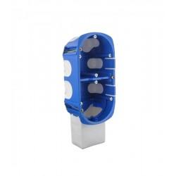 Caixa de mecanismo duplo recuado com espaço para módulo de automação residencial