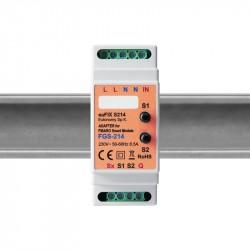 Eutonomy - adaptador de trilho DIN euFIX S214 com botões