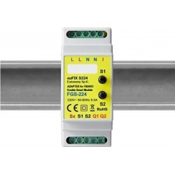 Eutonomy - euFIX S224 DIN rail adapter with buttons
