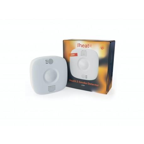 Heatit Z-Smoke Detector 230V - Detector de fuego con 4 funciones (alimentado 230V)