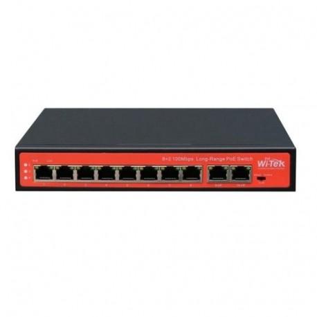 Wi-Tek WI-PS210G switch PoE 8 Fast Ethernet +2 Gigabit Ethernet 802.3 AF/AT hasta 120 W