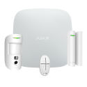 Ajax StarterKit-CAM - Alarm kit: ethernet panel and dual SIM GPRS, 1 PIRCAM, 1 magnetic contact and 1 command
