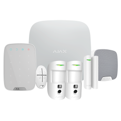 Kit Ajax HUB2PLUSKIT-DP-PRO - Hub 2 Plus, 2 PIRCAM, 1 magnético, 1 mando, 1 teclado y 1 sirena