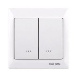 Recessed double-key switch from TKB Home