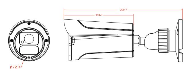 AVTECH AVN2503 dimensiones e instalacion de camara