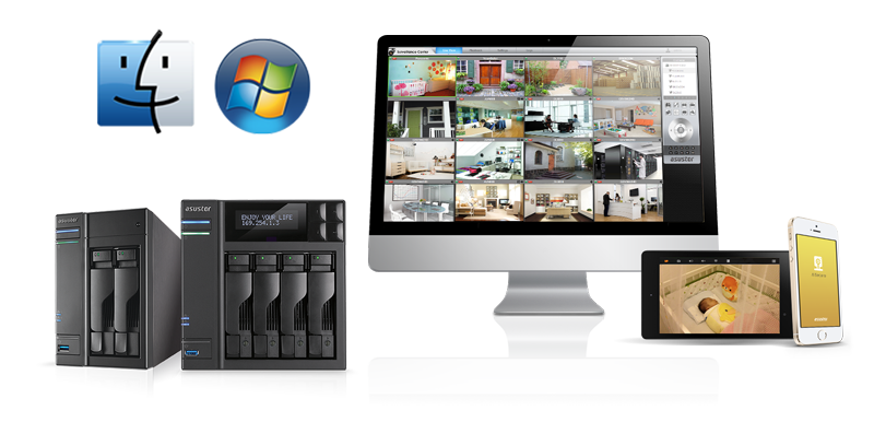 Video surveillance IP NAS Asustor