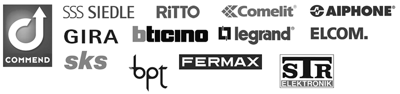 2-wire IP video intercom Compatible brands