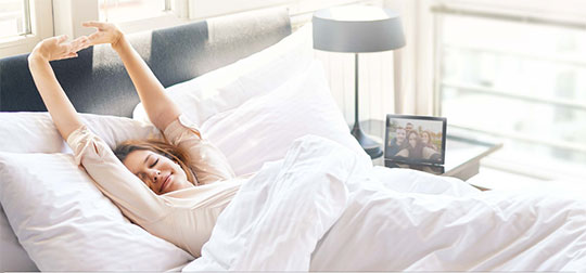 Wake up with Fibaro Swipe